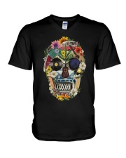 Hippie Flowers A0215 V-Neck T-Shirt thumbnail