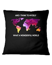 Myself What A Wonderful World 2 Square Pillowcase tile