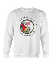 Myself What A Wonderful World 5 Crewneck Sweatshirt thumbnail