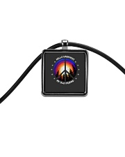 Hello Darkness My Old Friend Cord Rectangle Necklace thumbnail