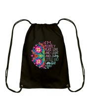 Peace Love And Light Drawstring Bag thumbnail