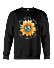 Myself What A Wonderful World 2 Crewneck Sweatshirt thumbnail