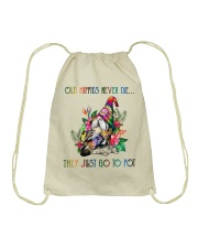 Old Hippies Never Die Drawstring Bag thumbnail