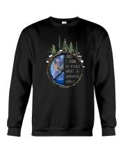 Myself What A Wonderful World 4 Crewneck Sweatshirt thumbnail