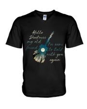 Hello Darkness V-Neck T-Shirt thumbnail