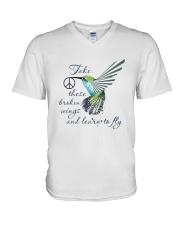 Take These Broken Wings V-Neck T-Shirt thumbnail