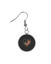 Freedom Is Just Another World 3 Circle Earrings thumbnail