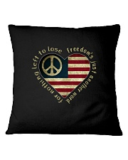 Freedom Is Just Another World 3 Square Pillowcase thumbnail