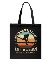 An Old Man With A Hockey Stick Tote Bag thumbnail