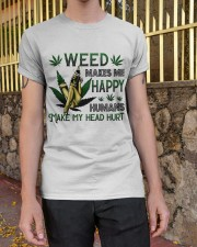 Weed Makes Me Happy Classic T-Shirt apparel-classic-tshirt-lifestyle-21