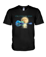 Here Comes The Moon V-Neck T-Shirt thumbnail