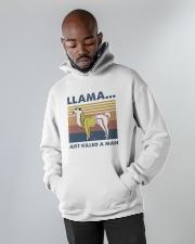 Llama Just Killed Aman Hooded Sweatshirt apparel-hooded-sweatshirt-lifestyle-front-09