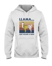 Llama Just Killed Aman Hooded Sweatshirt front