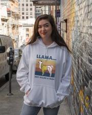 Llama Just Killed Aman Hooded Sweatshirt lifestyle-unisex-hoodie-front-1