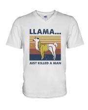 Llama Just Killed Aman V-Neck T-Shirt thumbnail