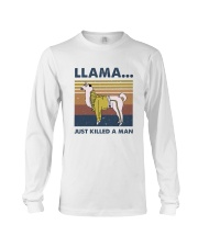 Llama Just Killed Aman Long Sleeve Tee thumbnail