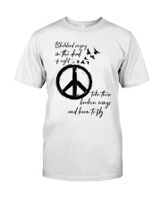 BlackBird Singing Hippie A0162 Classic T-Shirt thumbnail