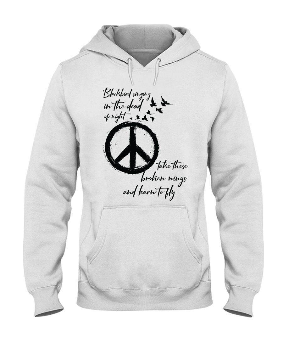 BlackBird Singing Hippie A0162 Hooded Sweatshirt