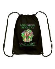 I Am Just An Old Lady Drawstring Bag thumbnail