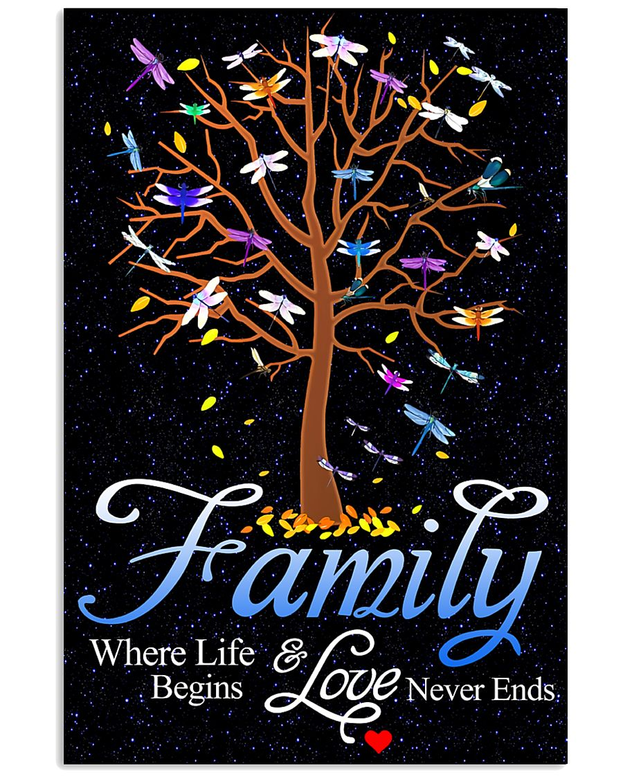 Family Where Life And Love Begins 11x17 Poster