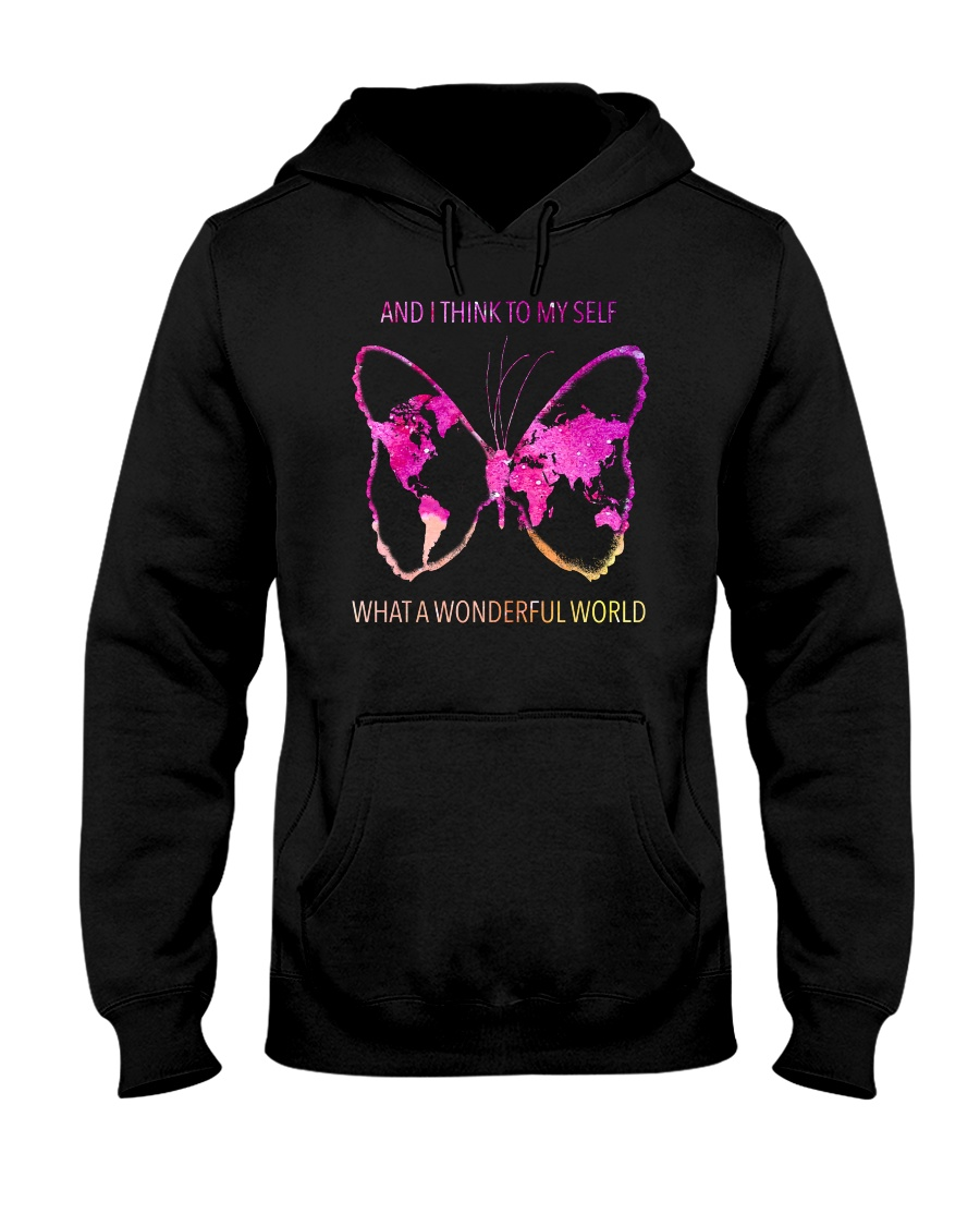 Myself What A Wonderful World 3 Hooded Sweatshirt