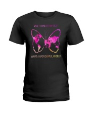Myself What A Wonderful World 3 Ladies T-Shirt thumbnail