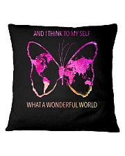 Myself What A Wonderful World 3 Square Pillowcase thumbnail
