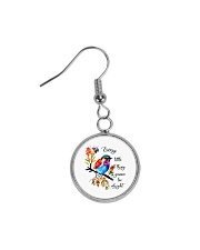 Every Little Thing Is Gonna Be Alright Circle Earrings thumbnail