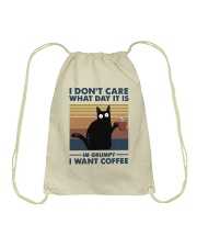 I Want Coffee Drawstring Bag thumbnail