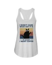 I Want Coffee Ladies Flowy Tank thumbnail