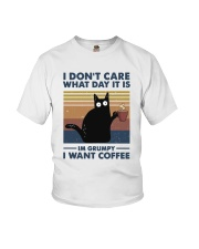 I Want Coffee Youth T-Shirt thumbnail