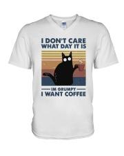 I Want Coffee V-Neck T-Shirt thumbnail