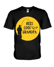 Reel Cool Grandpa V-Neck T-Shirt thumbnail