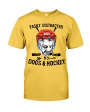 Dogs And Hockey Classic T-Shirt front