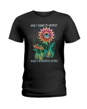 I Think To Myself Ladies T-Shirt thumbnail