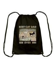 Best Cat Dad Ever Drawstring Bag thumbnail