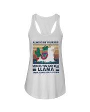 Always Be Yourself Ladies Flowy Tank thumbnail