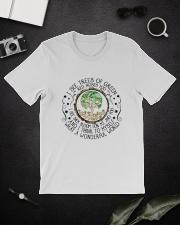 Myself What A Wonderful World Classic T-Shirt lifestyle-mens-crewneck-front-16