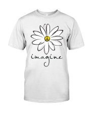 Imagine White Flowers A0125 Classic T-Shirt tile