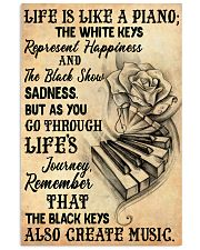 Life Is Like A Piano 11x17 Poster front