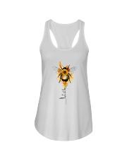 Let It Be Bee Flower Ladies Flowy Tank thumbnail