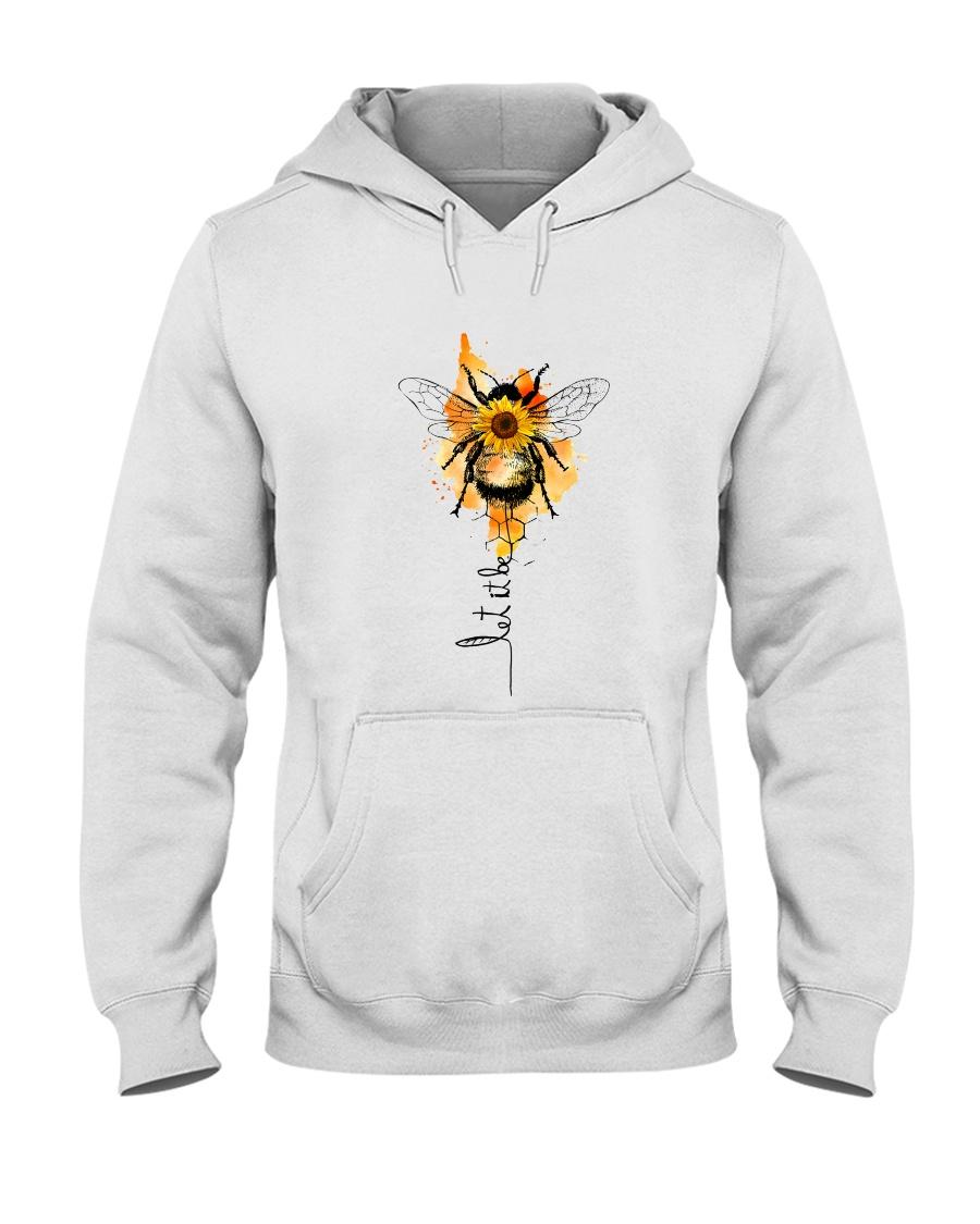 Let It Be Bee Flower Hooded Sweatshirt