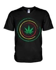 Cannabis V-Neck T-Shirt thumbnail