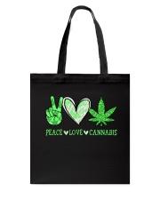 Peace Love Cannabis Tote Bag thumbnail