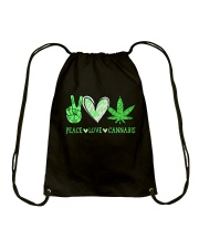 Peace Love Cannabis Drawstring Bag thumbnail