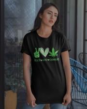 Peace Love Cannabis Classic T-Shirt apparel-classic-tshirt-lifestyle-08