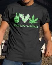 Peace Love Cannabis Classic T-Shirt apparel-classic-tshirt-lifestyle-28