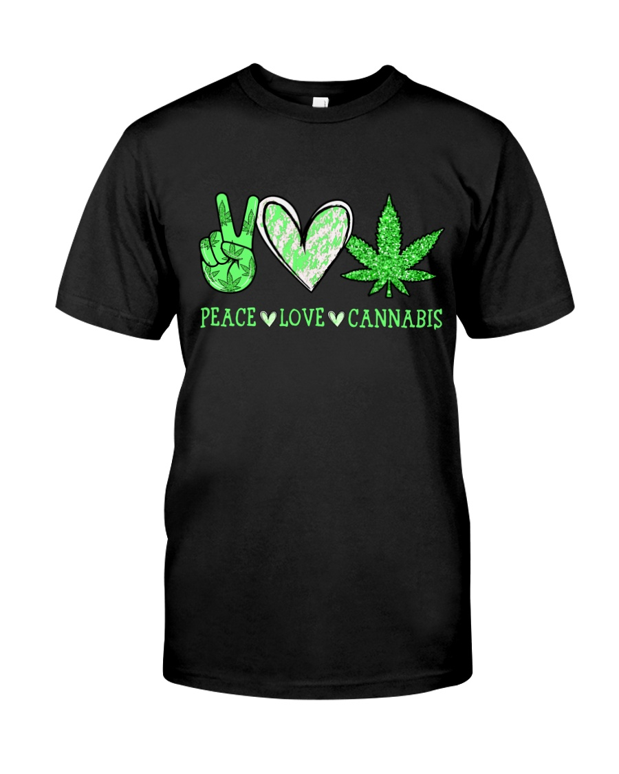 Peace Love Cannabis Classic T-Shirt