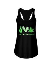 Peace Love Cannabis Ladies Flowy Tank thumbnail