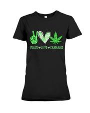 Peace Love Cannabis Premium Fit Ladies Tee thumbnail